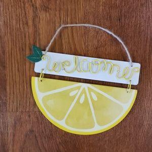 Welcome Lemon Sign